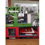 Boxed corgi starsky and hutch set complete together with boxed corgi c15 professional s car only..