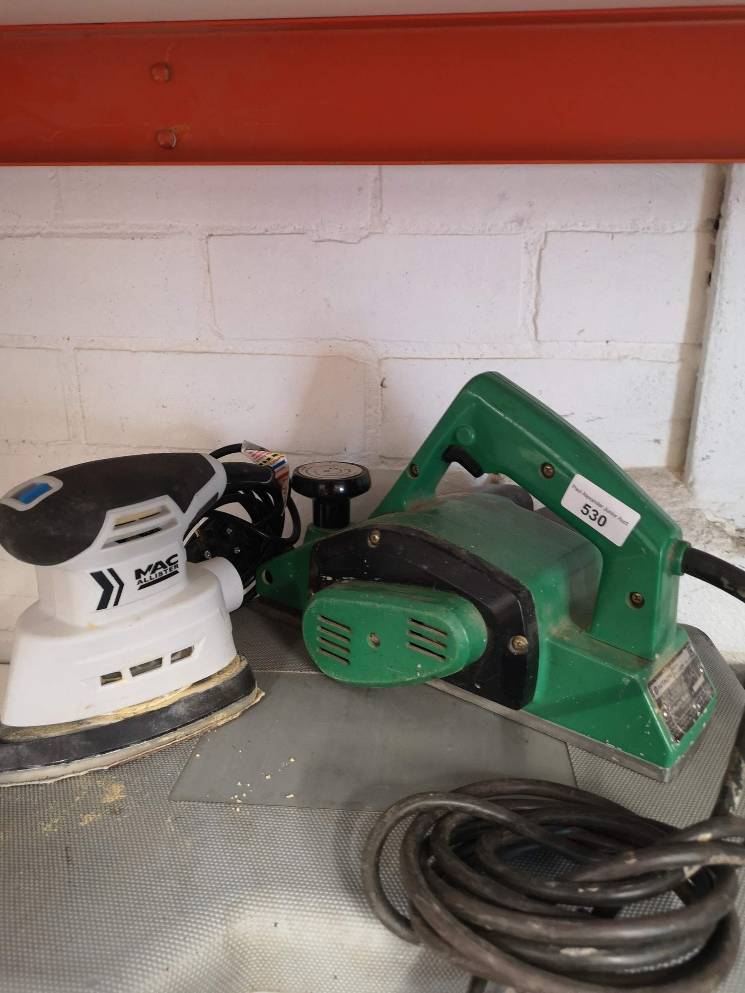 Heavy duty electric planer together with mac allister sander.