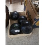 Almark bowling bowls.