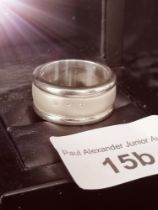 Silver Hot diamonds Gents ring . 20.42 grams .