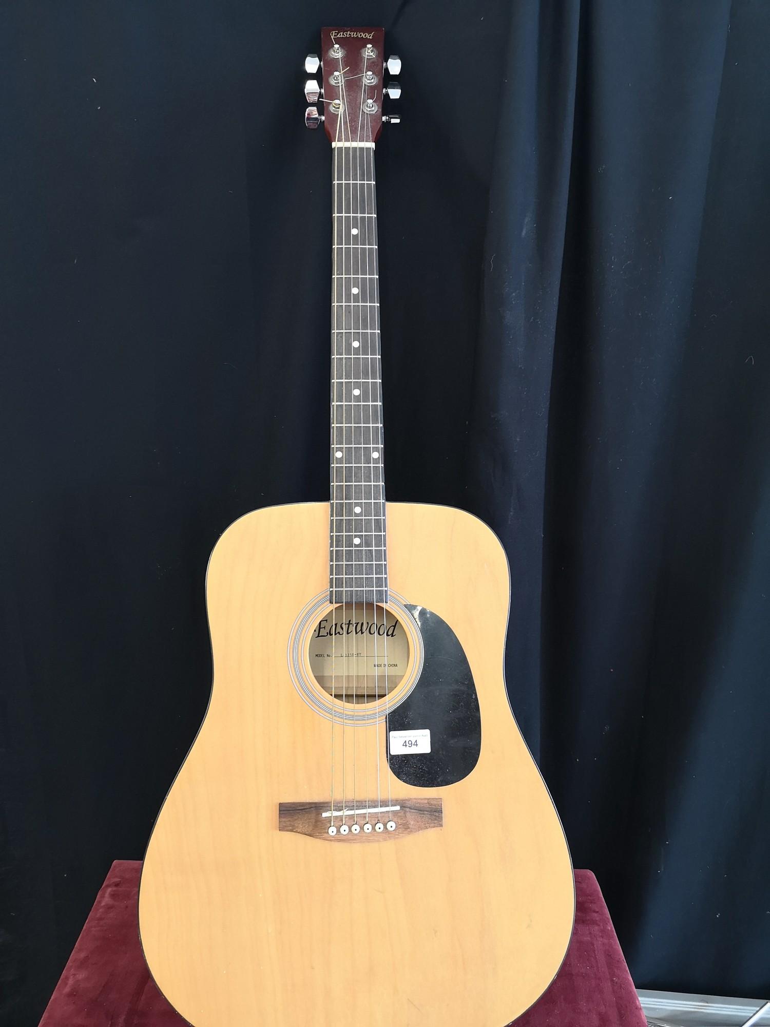 Eastwood acoustic guitar.