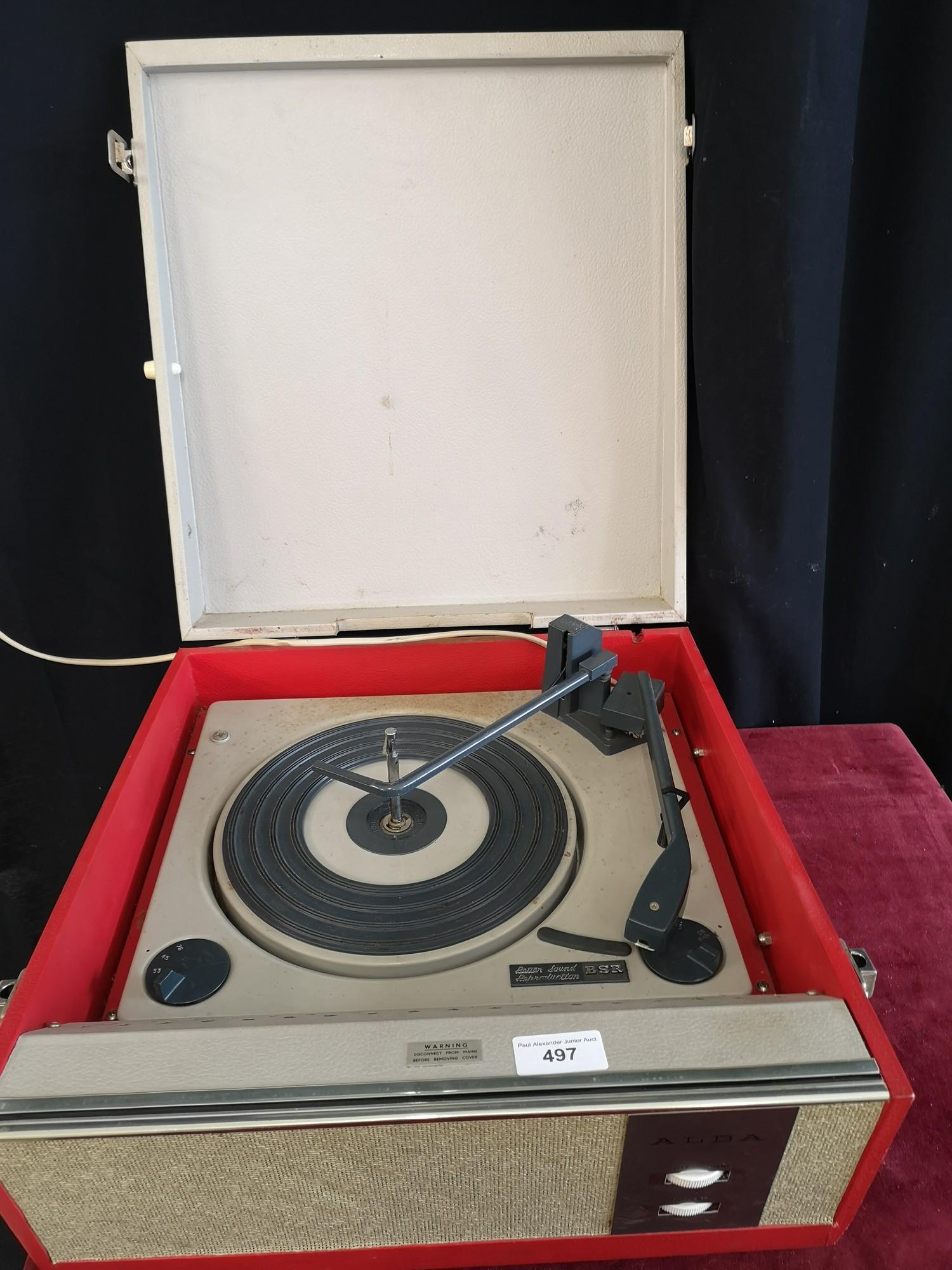 BSR vintage turntable. Turns on.