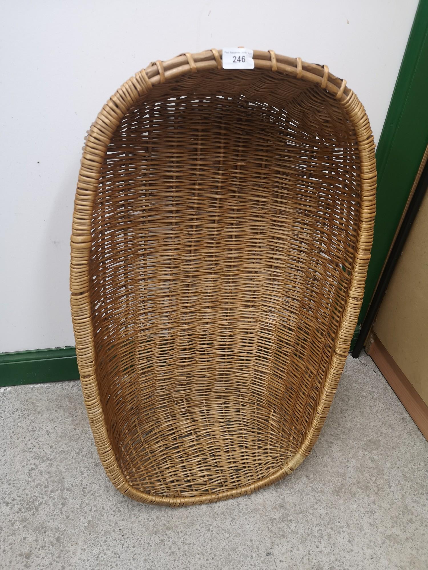 Early Large wicker basket.