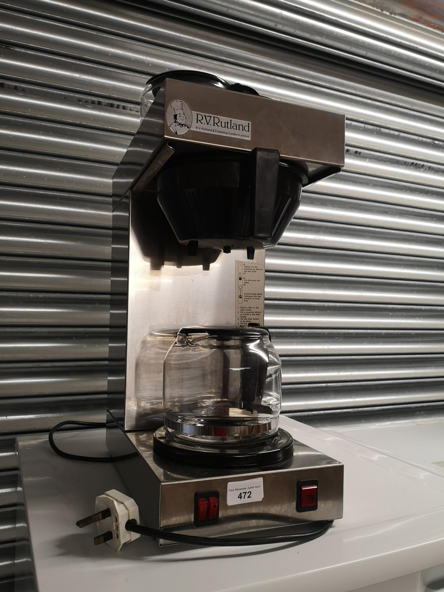 Rutland coffee machine. Working order. - Image 2 of 2