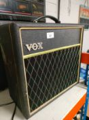 Vox guitar amplifier.
