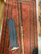 Large 3 piece vintage fishing rod .