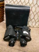 Set of Hanimex 12x50s binoculars with casing .