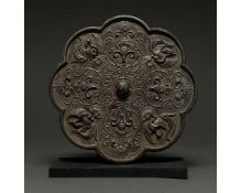 CHINA, TANG DYNASTY BRONZE MIRROR - XRF TESTED