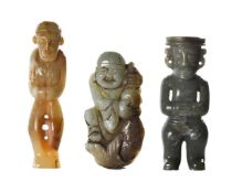 COLLECTION OF THREE CHINESE JADE CARVINGS