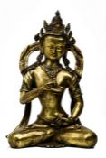 Tibeto-Chinese Gilt Bronze Statue of Vajrasattva