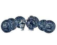 EIGHT CHINESE BLUE AND WHITE PORCELAIN VESSELS