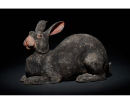 CHINESE HAN DYNASTY TERRACOTTA RABBIT - TL TESTED