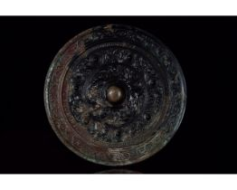 CHINESE HAN DYNASTY DECORATED MIRROR