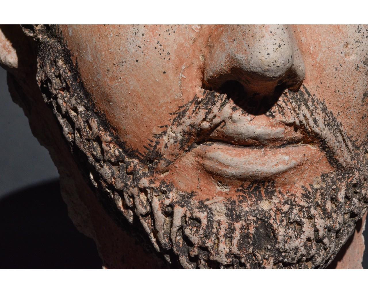 EGYPTIAN GRECO-ROMAN CERAMIC FACE - Image 7 of 9