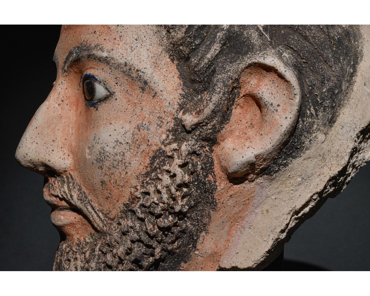 EGYPTIAN GRECO-ROMAN CERAMIC FACE - Image 8 of 9