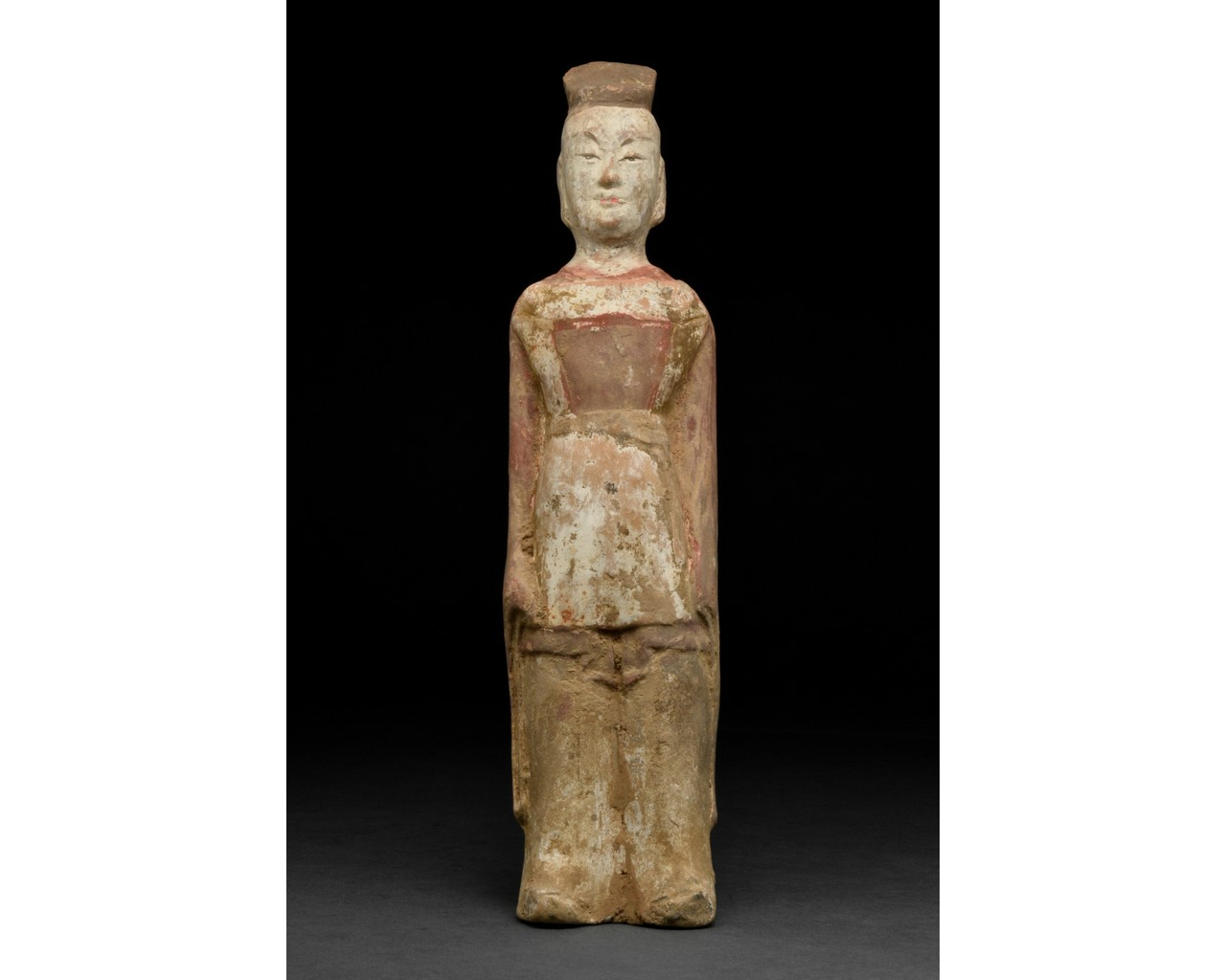 NORTHERN WEI TERRACOTTA PAINTED FIGURE
