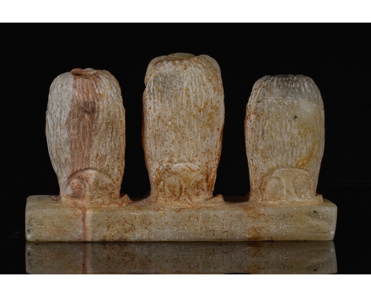 EGYPTIAN SCRIBAL SET OF THREE BABOONS - Image 3 of 7