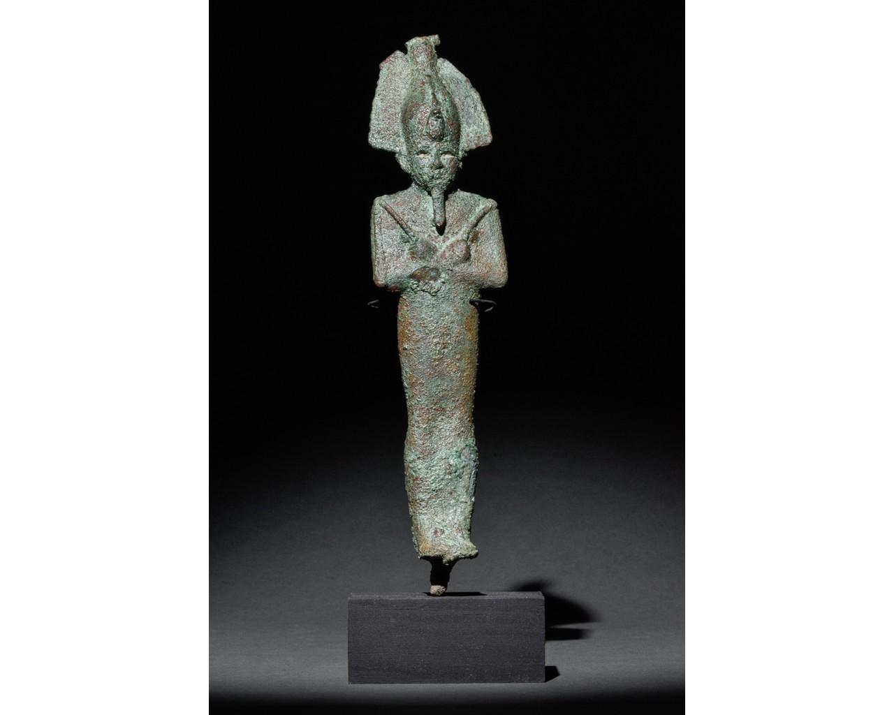 EGYPTIAN VOTIVE STATUETTE OF OSIRIS