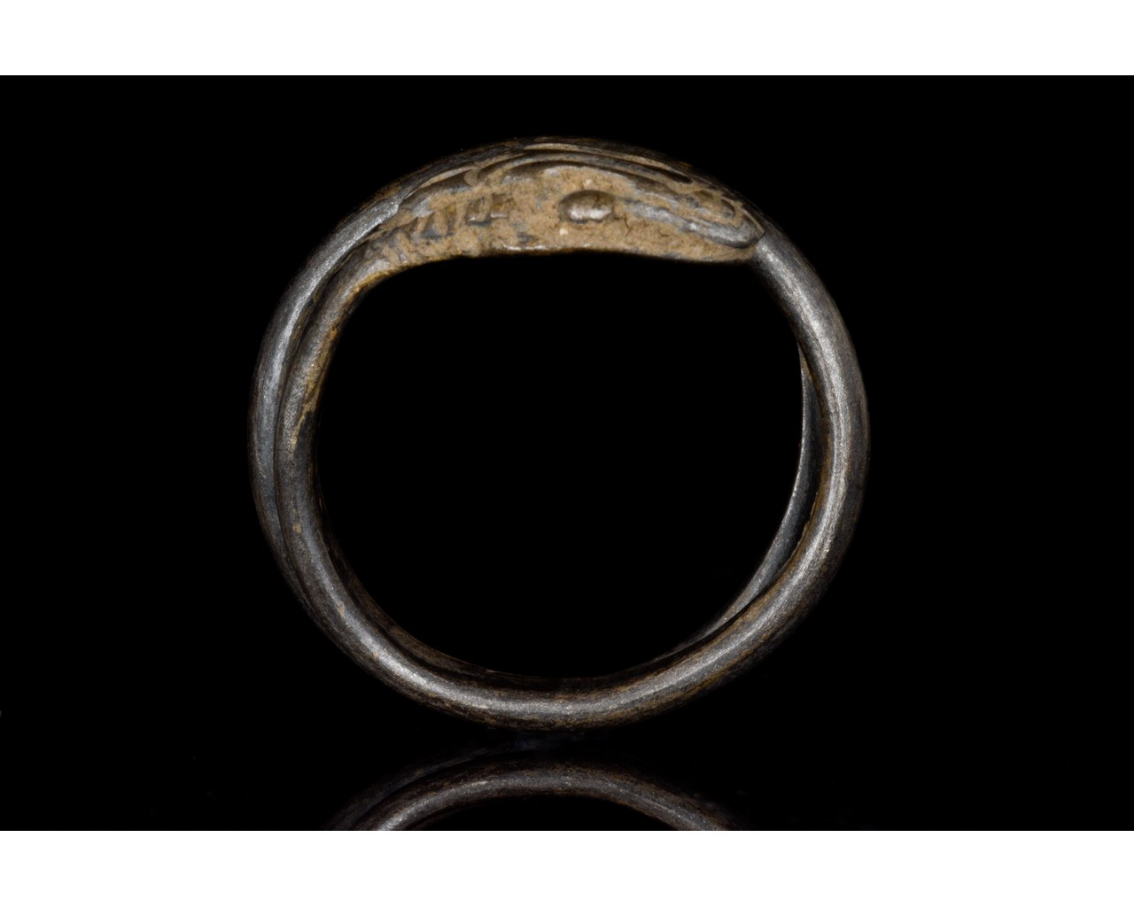 ROMANO-EGYPTIAN SILVER SNAKE RING - Image 5 of 5