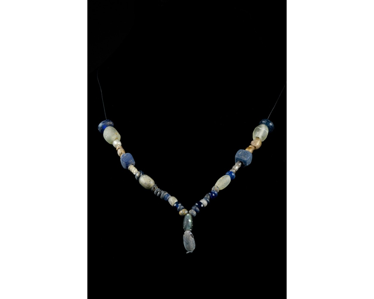 ROMAN GLASS AND STONE NECKLACE
