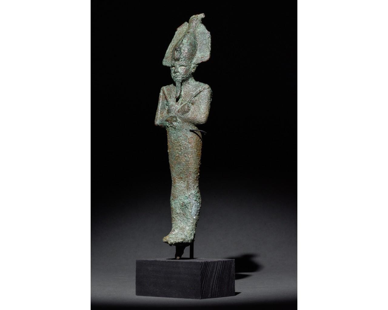 EGYPTIAN VOTIVE STATUETTE OF OSIRIS - Image 2 of 5