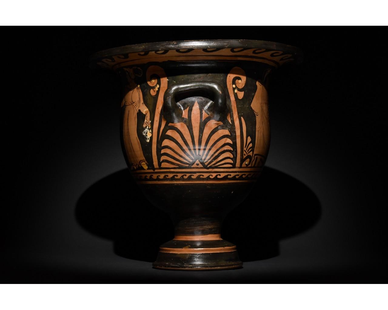LARGE GREEK APULIAN BELL KRATER - TL TESTED - Image 2 of 15