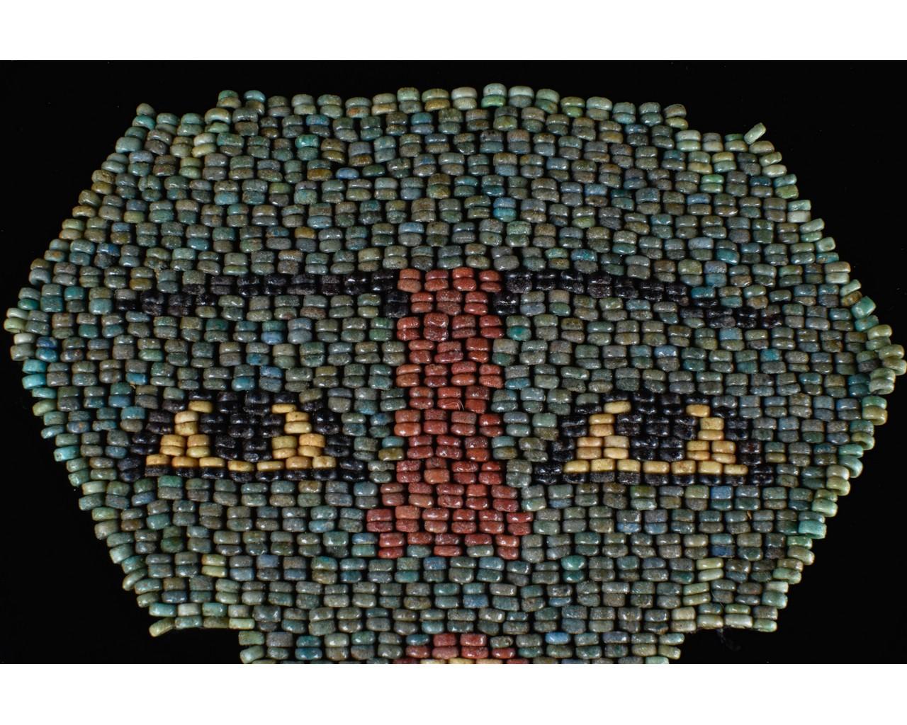 EGYPTIAN BLUE BEADED MUMMY MASK - Image 4 of 7