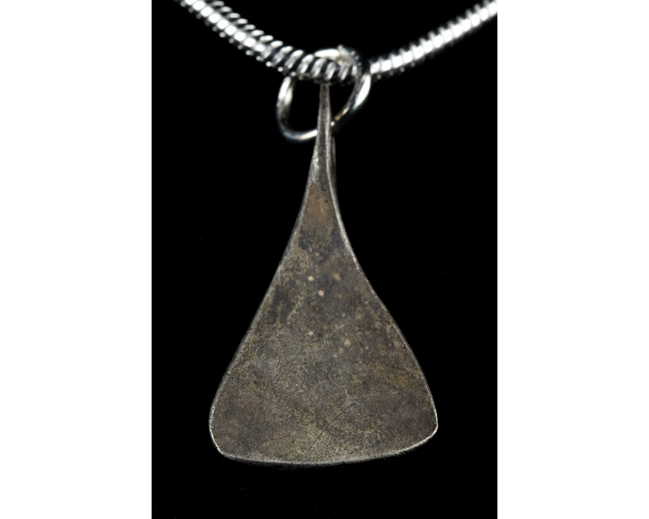 MEDIEVAL SILVER AXE SHAPED PENDANT