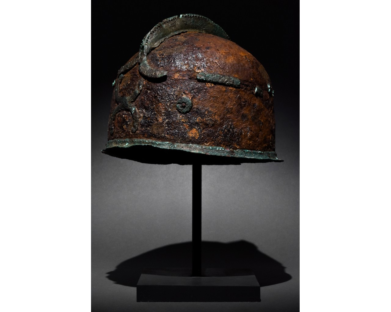 RARE CELTIC IRON AND BRONZE HELMET - XRF TESTED - Image 2 of 8