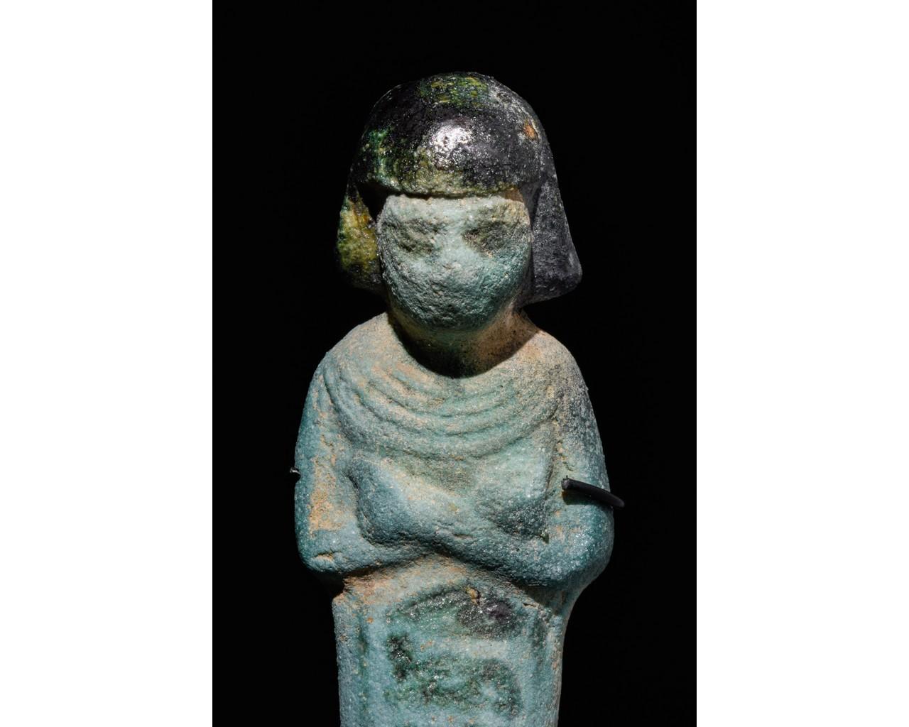 EGYPTIAN FAIENCE SHABTI OF PA-DI-KHONSU - TRANSLATED - Image 4 of 5