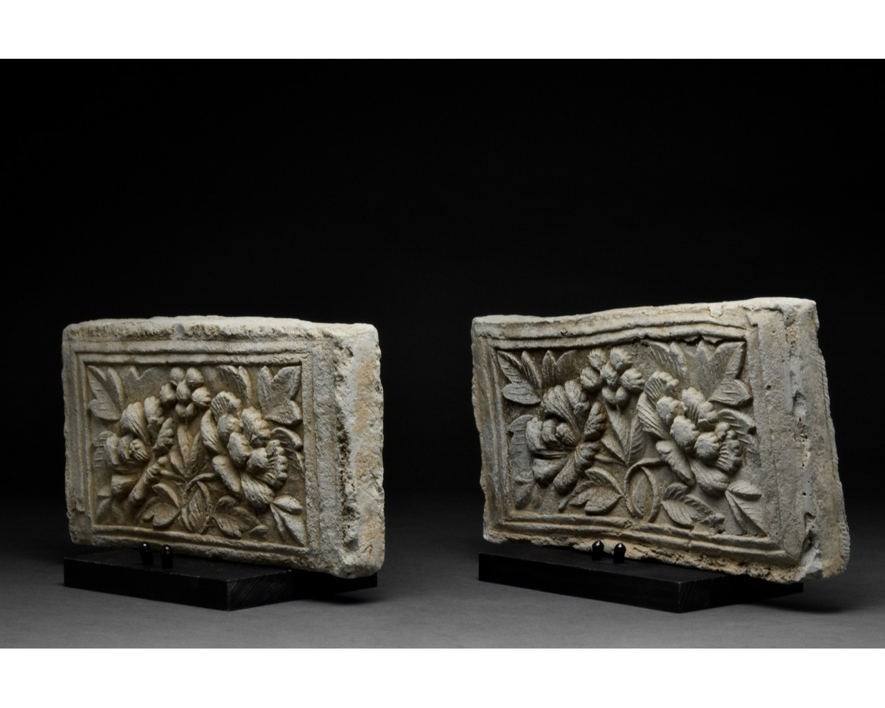 PAIR OF CHINESE SONG DYNASTY TERRACOTTA BRICKS - Image 2 of 5
