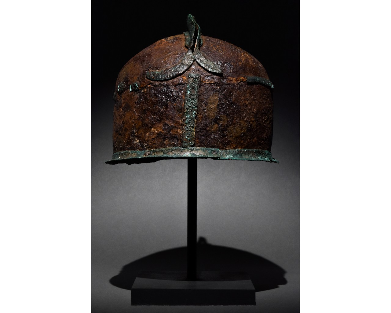 RARE CELTIC IRON AND BRONZE HELMET - XRF TESTED - Image 3 of 8