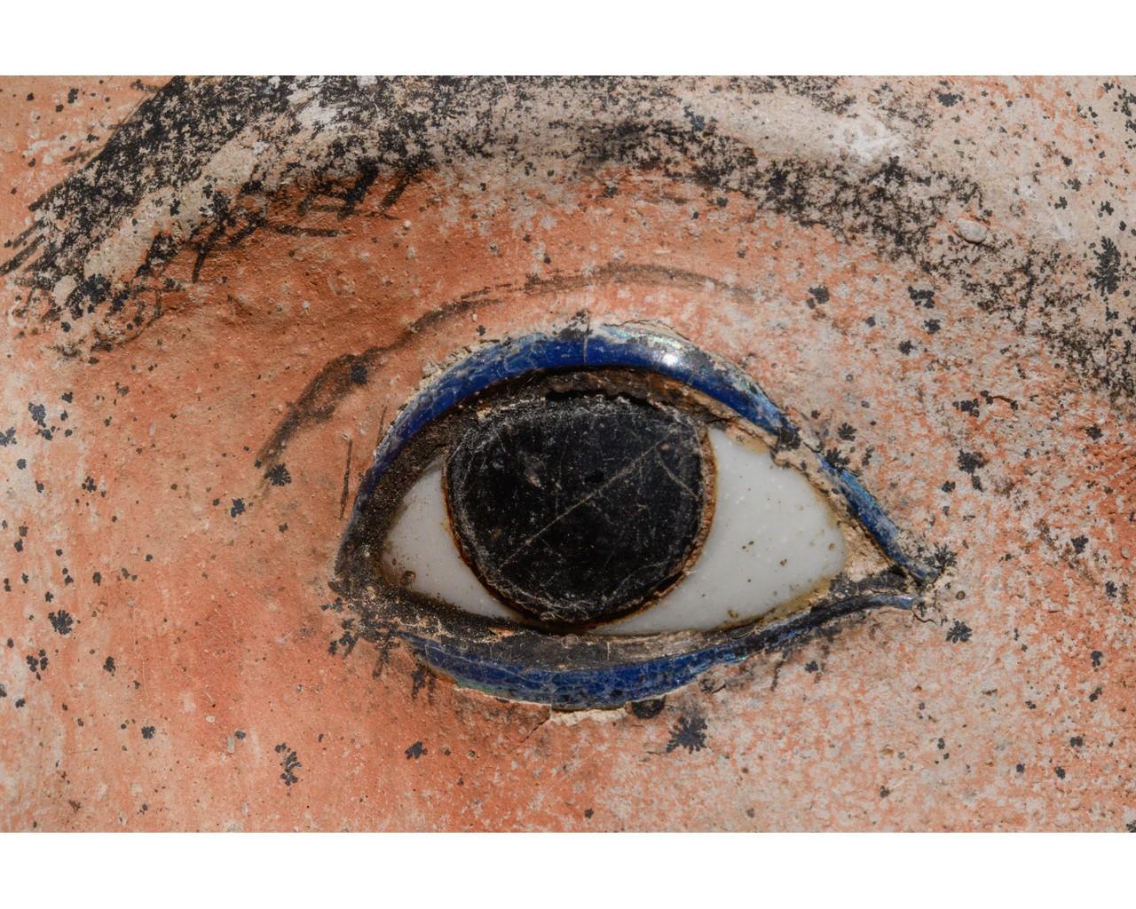 EGYPTIAN GRECO-ROMAN CERAMIC FACE - Image 9 of 9