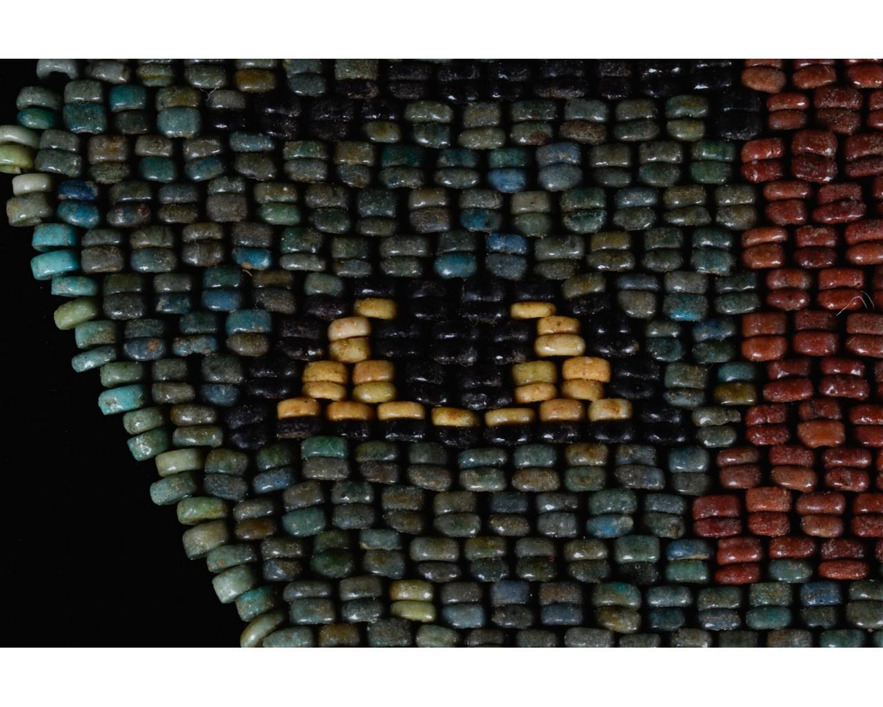 EGYPTIAN BLUE BEADED MUMMY MASK - Image 7 of 7