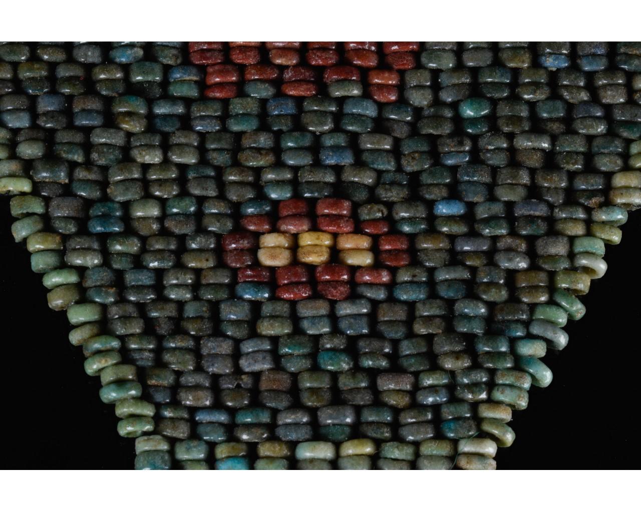 EGYPTIAN BLUE BEADED MUMMY MASK - Image 6 of 7