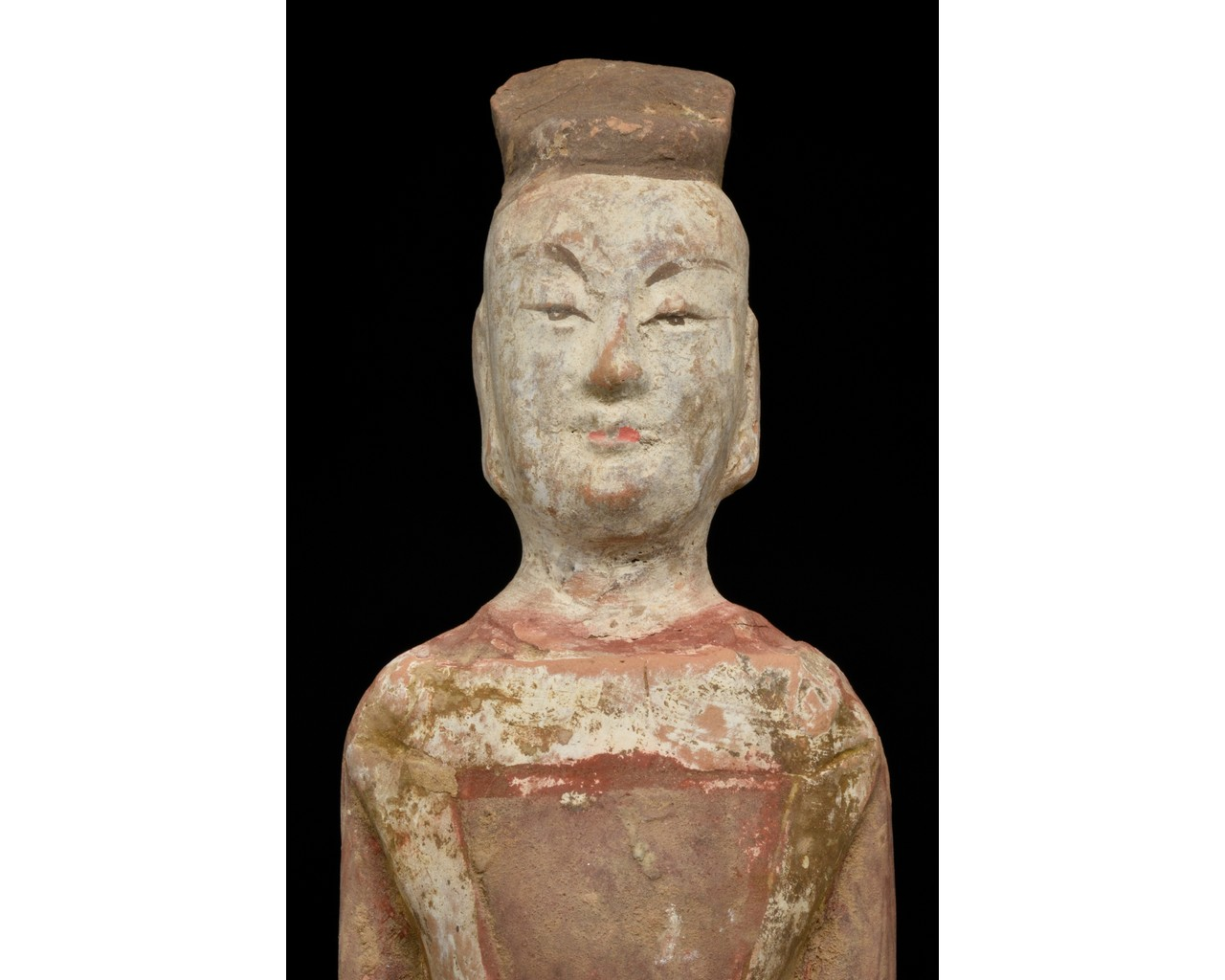 NORTHERN WEI TERRACOTTA PAINTED FIGURE - Image 4 of 4