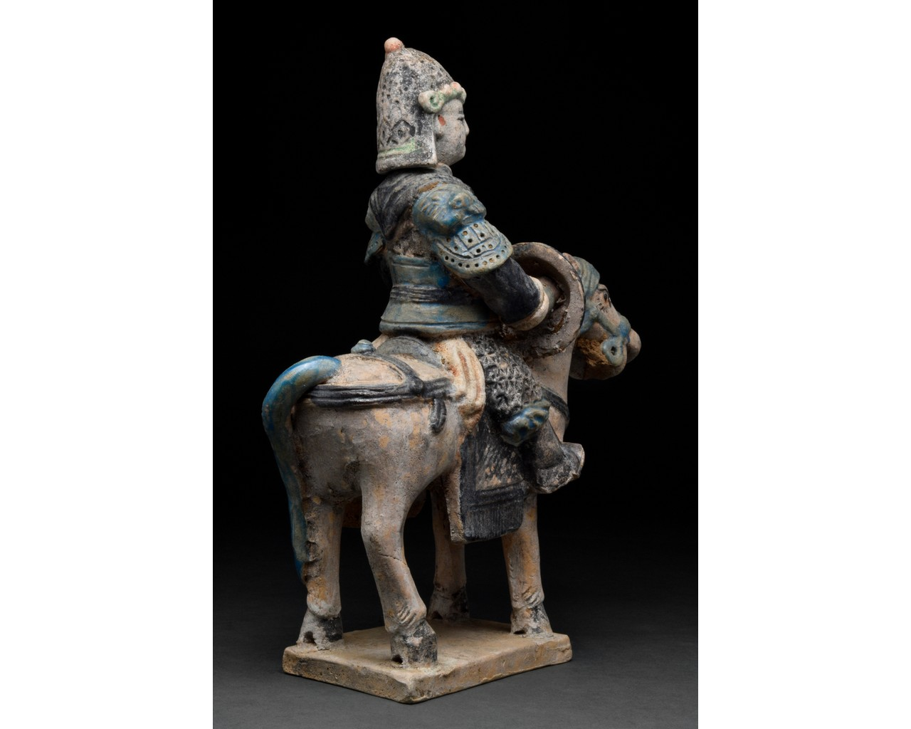 CHINESE MING DYNASTY HORSE AND RIDER FIGURE - Image 3 of 5