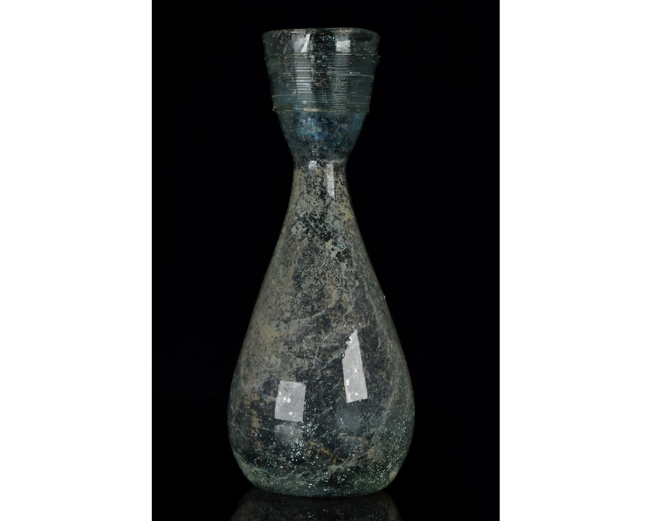 ROMAN GLASS FUNNEL FLASK - Image 2 of 9
