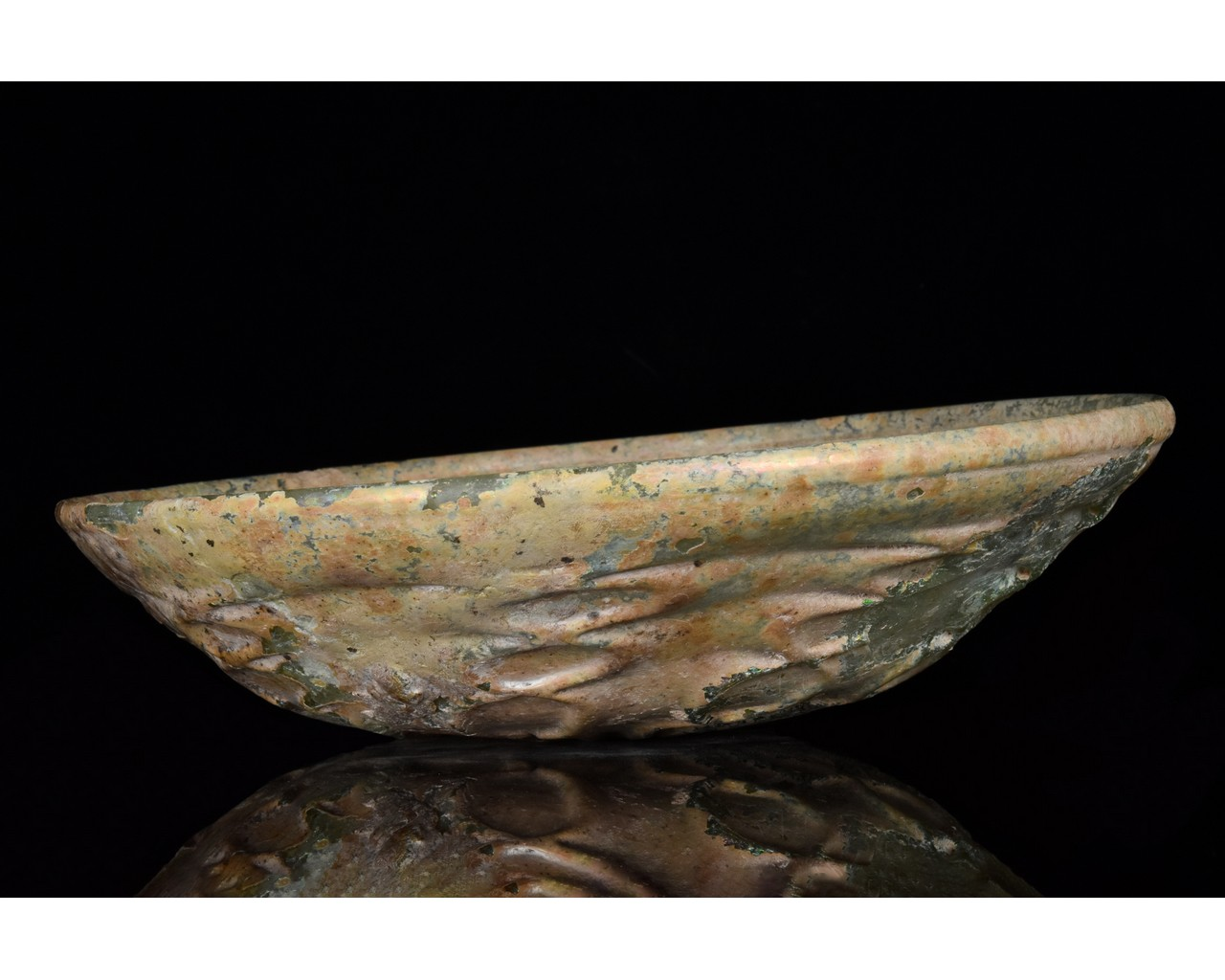 ROMAN GLASS PHIALE WITH FLORAL PATTERN - Image 2 of 15