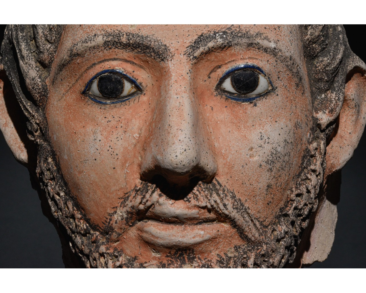 EGYPTIAN GRECO-ROMAN CERAMIC FACE - Image 5 of 9