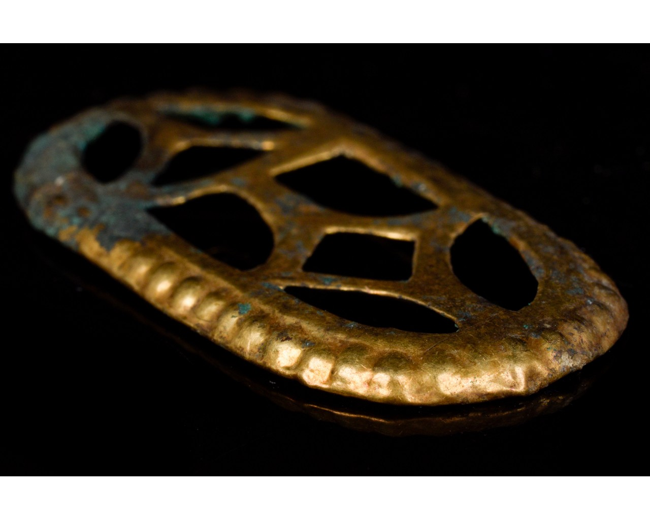 MEROVINGIAN GILDED BRONZE BELT FITTINGS SET - Image 6 of 8