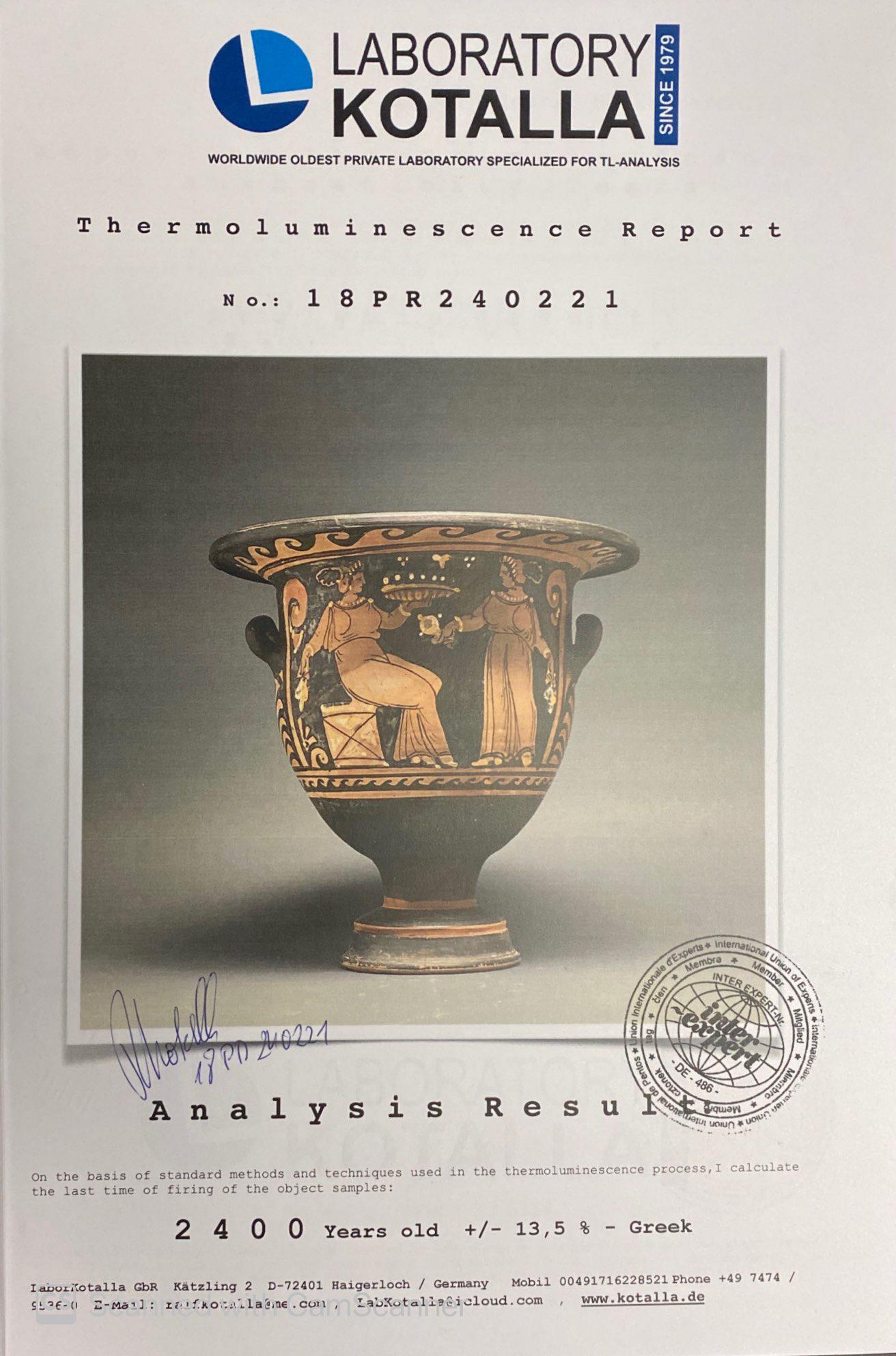 LARGE GREEK APULIAN BELL KRATER - TL TESTED - Image 15 of 15
