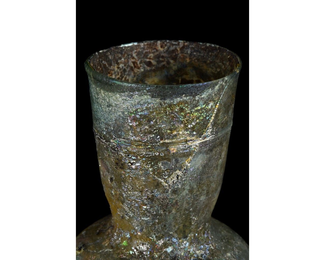 TALL ROMAN GLASS FLASK - Image 7 of 9