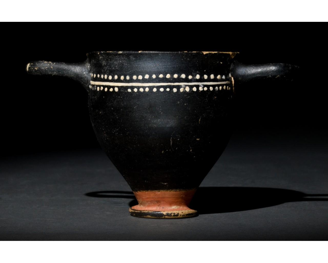 GREEK GNATHIAN SKYPHOS - Image 3 of 8