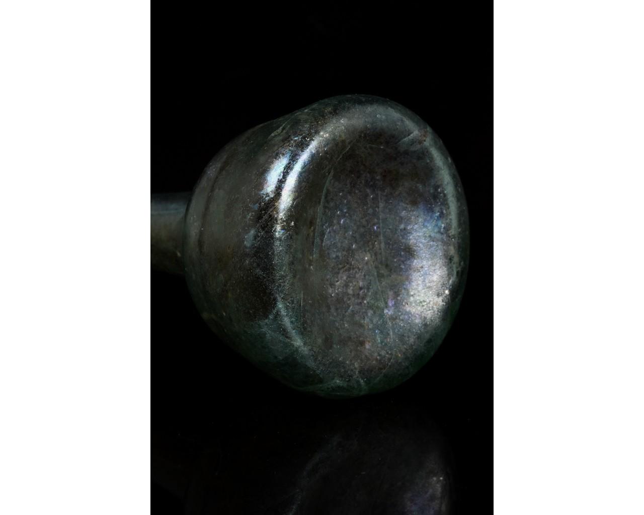 ROMAN GLASS TALL UNGUENTARIUM FLASK - Image 9 of 9