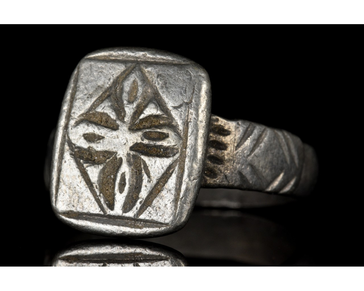 MEDIEVAL SILVER CROSS WITH CROSS