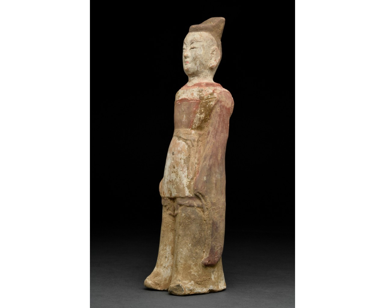 NORTHERN WEI TERRACOTTA PAINTED FIGURE - Image 2 of 4
