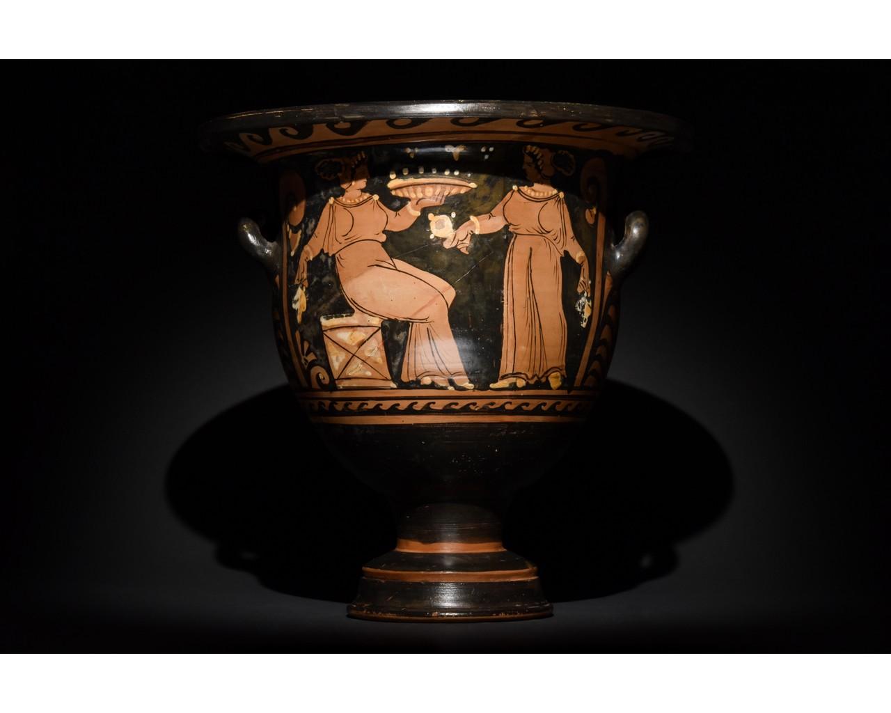 LARGE GREEK APULIAN BELL KRATER - TL TESTED