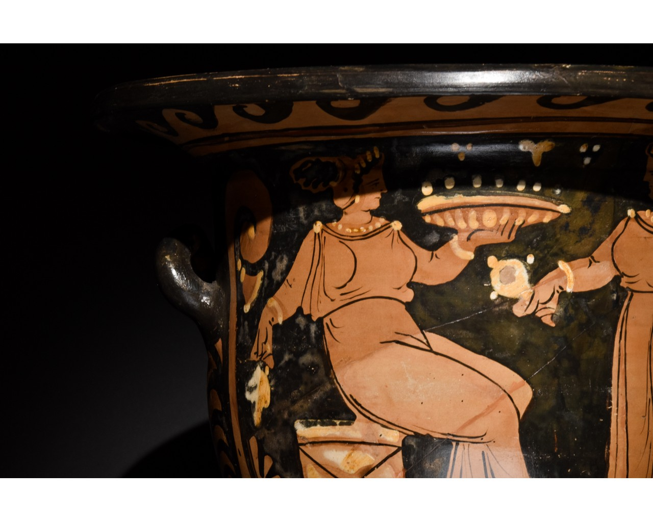 LARGE GREEK APULIAN BELL KRATER - TL TESTED - Image 7 of 15