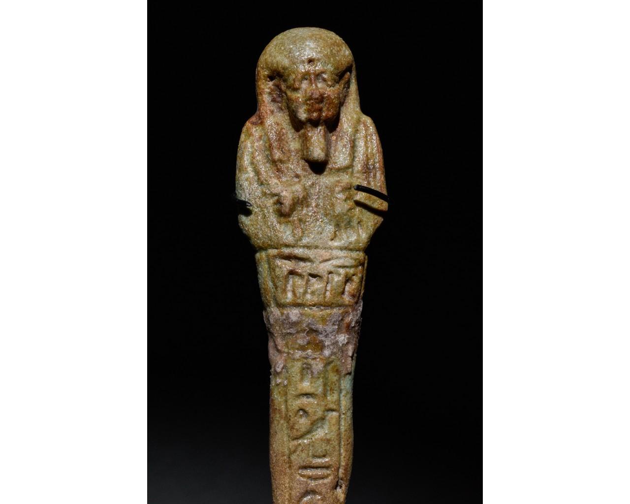 EGYPTIAN FAIENCE SHABTI - Image 4 of 5